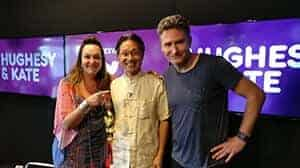 Feng Shui consultant, Edgar on radio show, Hughesy & Kate.