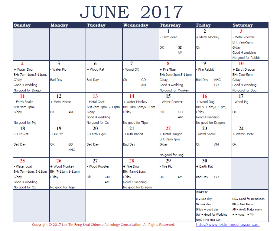 Good days June 2017