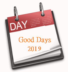 Good days and bad days 2019